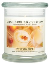 Premium 100% Soy Candle - 12 oz. Status Jar - Amaretto Nog: A holiday wa... - $19.99