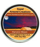 Premium 100% Soy Candle - 6 oz Tin- Harvest Moon -Fresh pear, blueberrie... - $10.99