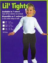 BLACK TIGHTS CHILD SZ LARGE 75-100 LBS., SZ 12-14 - $5.50