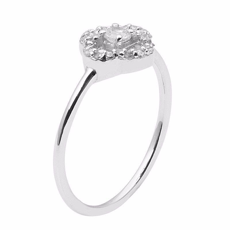 Party wear women Jewelry 925 Sterling Cubic Zirconia Stone Ring Sz 11 SHRI1000