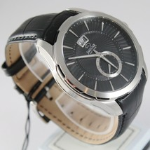 JAGUAR WATCH, SWISS MADE, SAPPHIRE CRYSTAL, 44 MM WORKED CASE BLACK LEATHER BAND image 2