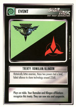 Star Trek CCG - Treaty: Romulan/Klingon - $0.69