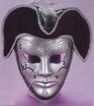 Mardi Gras Venetian PIRATE Mans Mask R - $30.00