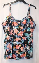 NEW TORRID WOMENS PLUS SIZE 5X 5 FLORAL CHALLIS SMOCKED BABYDOLL TANK TO... - $19.34
