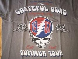 Grateful Dead Summer Tour 1987 T Shirt Medium Repro NWT Liquid Blue - $16.14