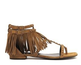 Saint Laurent Sandals Nu Pied Fringe Size 8.5 New - $326.70