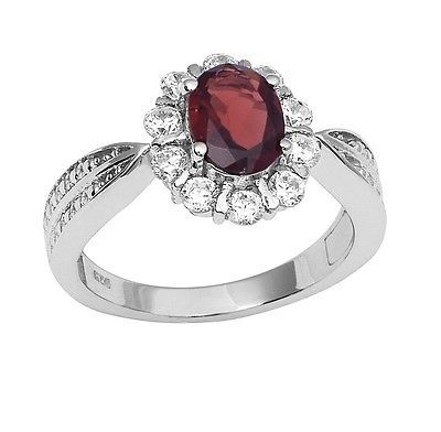 Garnet  Topaz Party Wear Solid 925 Sterling Silver Jewelry Ring  Sz 6.5 SHRI0794
