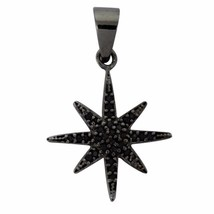 Spark Design Pendant Black Spinel Gemstone 925 Sterling Silver Jewelry SHPN0135 - $9.12