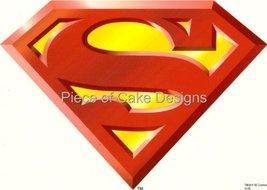 1/4 Sheet ~ Superman Logo Birthday ~ Edible Image Cake/Cupcake Topper!!! - $8.99