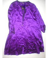 New Juicy Couture Dress Short Womens S Silk Purple Black Gold Buttons Ke... - $80.00