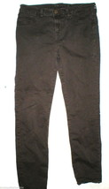 New J Brand Jeans 811 Suede Skinny Leg Womens 30 X 28 Brown Twill Mid rise - $31.60