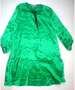 New Juicy Couture Dress Short Womens XS Silk Green Black Gold Buttons Ke... - $80.00