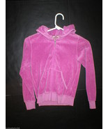 New Girls Juicy Couture Velour Pink Purple Hoodie Jacket 10 J zipper pull - $12.00