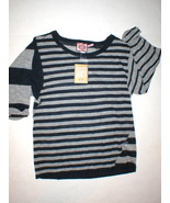 New Womens Large L Juicy Couture Blue Gray Stripe Alpaca Finer than Cash... - $129.99