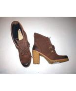 New Womens UGG Australia Boots 12 Dark Brown Hi Ankle Booties Calynda Fo... - $161.45