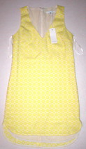 New Womens Piperlime Collection Dress Tank Sleeveless Yellow Shift Shirt... - $35.60