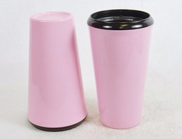 16 oz. Pink Drink Tumblers, Set of 2 ~ Plastic w/Insulated Liner, Made i... - $12.69
