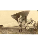 Spirit of St Louis and Charles Lindberg vintage Post Card   - $75.00