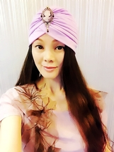 Light Purple Retro Head Portrait Turbans,Womens Turbans,Full Turban,Headband - $17.99