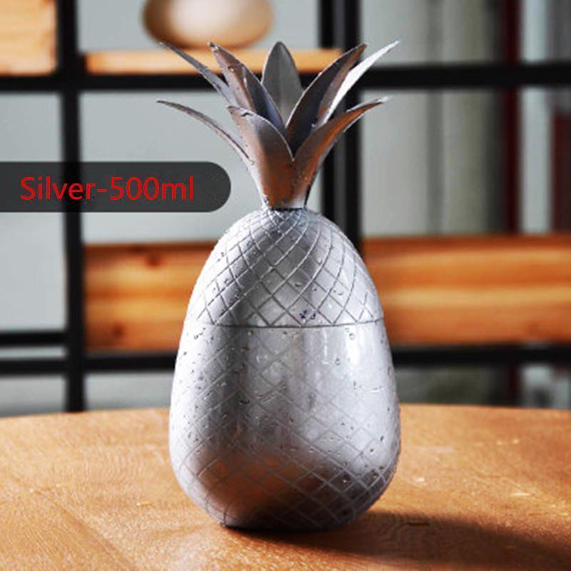 Pineapple Mugs Beer Copper Mug Stainless Steel Cup Cocktail Cup Glass Bar Tool