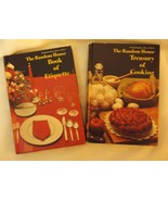 vintage Random House Hostess Library 2 volume cooking etiquette slipcove... - $19.15