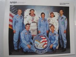 NASA Crew of Space Shuttle mission 61-B 10x8 litho glossy print photo NO... - $11.85