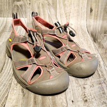 Keen Womens Venice H2 Sz 8.5 Brown Pink Canvas Waterproof Sports Hiking Sandals - $44.99
