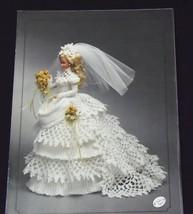 Annie's Attic Fashion Bed Doll Bride Gown Crochet Pattern 1993 Victorian  - $7.28