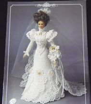 Annie's Attic Potter Fashion Bed Doll Bride Gown Crochet Pattern 1995  - $6.70