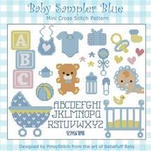 Baby Sampler Blue boy cross stitch chart Pinoy Stitch - $7.20