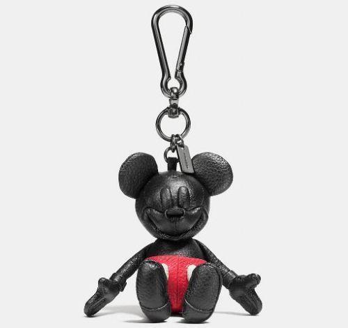 DISNEY x Coach Limited Edition Mickey Mouse Leather Doll Keychain Fob bag charm