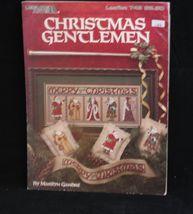 Leisure Arts Christmas Gentlemen Cross Stitch Pattern Leaflet 743 1989 Sampler - $5.23