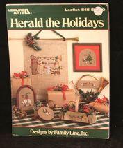 Leisure Arts Cross Stitch Christmas Patterns #515: Herald the Holidays 1... - $3.35