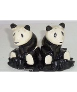 Giant Panda Bears Salt Peppers Shakers Stand Animal Collectible Vintage ... - $49.95