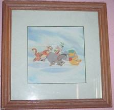 Disney Picture Winnie the Pooh Eeyore Tigger Framed Print Childs Room Pi... - $39.95