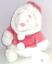 Disney Store Winnie Pooh Snowball Toy Winter Plush Bear Pink Coat Tags Retired - $59.95