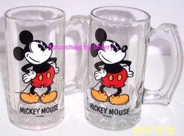 Disney Mickey Mouse Stein Mug Cup Glass Collectible Lot of 3 - $69.95