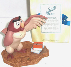 Disney Winnie Pooh Owl Figurine You've done a Very Grand Thing  - $59.95