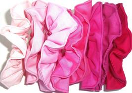 Hair Scrunchie Pink Rose Bubblegum Fuchsia Cotton Fabric Scrunchies by Sherry - $6.99