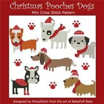Christmas Pooches holiday cross stitch chart Pinoy Stitch - $6.30