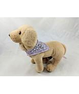 "American Girl Kailey's Posable Dog Sandy Plush Puppy Purple Bandanna 8"" - $19.95"