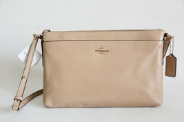 NWT COACH SMOOTH LEATHER SWINGPACK CROSSBODY BAG NUDE - $81.76