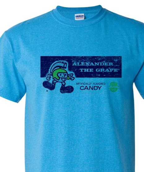 Alexander Grape T-shirt Free Shipping retro vintage style distressed graphic tee