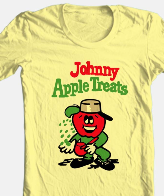 Johnny Apple Treats T-shirt Free Shipping retro candy vintage style graphic tee
