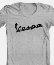 Vespa T-shirt Free Shipping retro vintage style distressed heather grey tee image 1