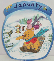 Disney Winnie Pooh Tigger Piget Collector Plate January Bradford Exchange - $59.95