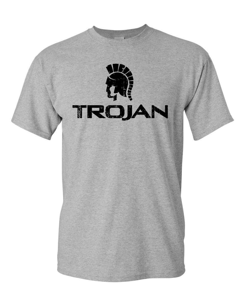 Trojan Condom T Shirt Free Shipping Retro Vintage Style