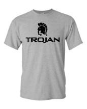 Trojan Condom T-shirt Free Shipping retro vintage style distressed logo grey tee image 2