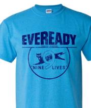 Eveready T-shirt Free Shipping retro 1980's vintage distressed logo blue tee image 1