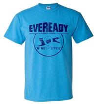 Eveready T-shirt Free Shipping retro 1980's vintage distressed logo blue tee image 2